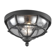 Feiss Lighting River North Textured Black Close To Ceiling Light