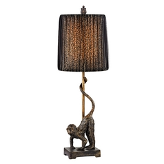 Accent Lamp with Black Shades in Bissau Bronze Finish