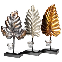 Stylecraft Metal Leaf Candle Holders