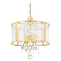 Capital Lighting Blakely Capital Gold Pendant Light with Drum Shade
