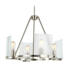 Sea Gull Lighting Storey Brushed Nickel Mini-Chandelier