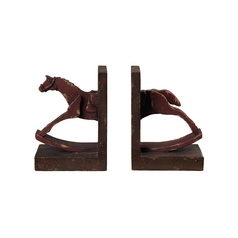 Bookend in Antique Red Finish