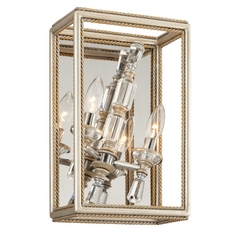 Corbett Lighting Houdini Silver Leaf with Gold Leaf Sconce