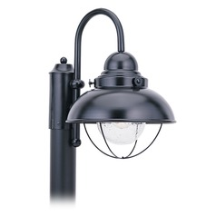 Marine / Nautical Seeded Water LED Post Light Black Sebring by Sea Gull Lighting