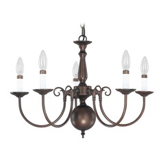 Williamsburg Chandelier 5-Lights Bronze by Capital Lighting