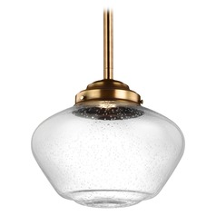 Feiss Lighting Alcott Aged Brass LED Pendant Light