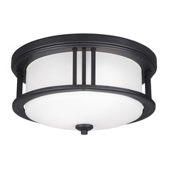 Sea Gull Crowell Black Close To Ceiling Light
