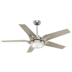 Casablanca Fan Co Correne Brushed Nickel LED Ceiling Fan with Light
