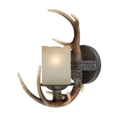 Yoho Faux Antler and Black Walnut Sconce