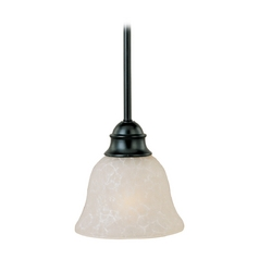 Maxim Lighting Linda Black Mini-Pendant Light with Bell Shade