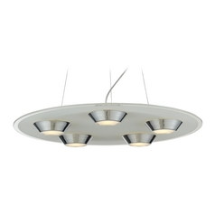 Modern LED Pendant Light in Chrome Finish