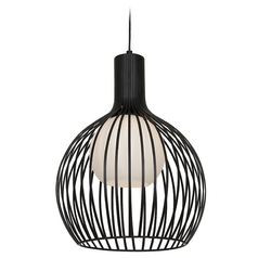 Access Lighting Chuki Black Pendant Light with Globe Shade