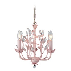 Elk Lighting Circeo Light Pink Mini-Chandelier