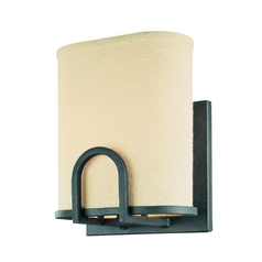 Sconce Wall Light with Beige / Cream Shades in Federal Bronze Finish