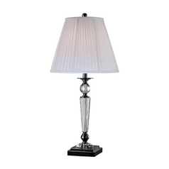 Lite Source Lighting Sherine Black Table Lamp with Empire Shade
