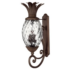 33-1/2 Inch Copper Bronze Pineapple Outdoor Wall Light
