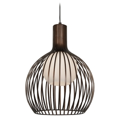 Access Lighting Chuki Bronze Pendant Light with Globe Shade