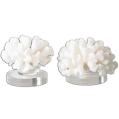 Uttermost Hard Coral Sculptures, Set of 2