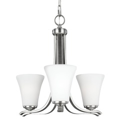 Feiss Summerdale 3-Light Chandelier in Satin Nickel