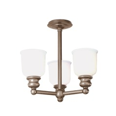 Hudson Valley Lighting Riverton Antique Nickel Semi-Flushmount Light