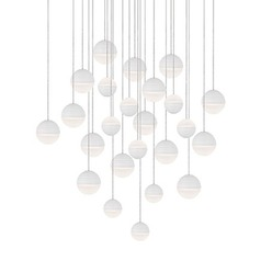 Kuzco Matte White LED Multi-Light Pendant