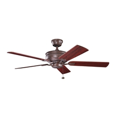 Kichler Lighting Duval Tannery Bronze Ceiling Fan Without Light