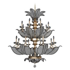 Allegri Tiepolo 2-Tier 16-Light Chandelier in Silver LeAF Sienna Bronze
