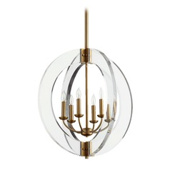 Quorum Lighting Broadway Aged Brass Chandelier