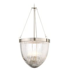 Minka Lavery Atrio Brushed Nickel Pendant Light with Bowl / Dome Shade