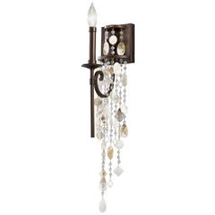 Vintage Style Bronze Sconce Wall Light with Crystal Accented Beading