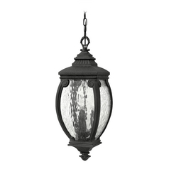 Outdoor Hanging Light with Clear Glass in Museum Black Finish