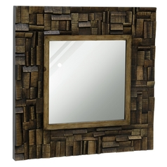 Stylecraft Modern Lodge Wooden Accent Mirror
