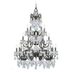 Crystorama Lighting Legacy English Bronze Crystal Chandelier