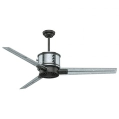 Casablanca Fan Co Duluth Galvanized Steel with Aged Steel Accents Ceiling Fan Without Light