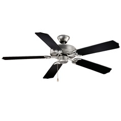 Medallion Flash Silver Ceiling Fan Without Light by Vaxcel Lighting