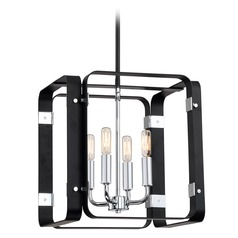 Industrial Pendant Light Black Reveal by Quoizel Lighting