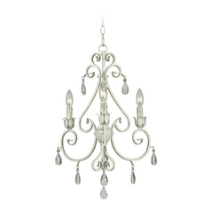 Crystal Chandelier in White Finish
