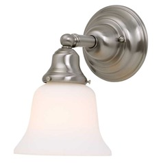 Design Classics Single-Light Sconce with Bell Shade and 8-Watt LED Bulb 671-09/G9110 8W LED