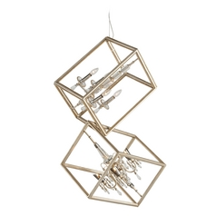 Corbett Lighting Houdini Silver Leaf with Gold Leaf Pendant Light