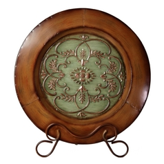 Stylecraft Wooden Plate with Iron Stand