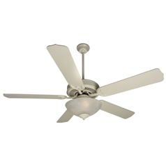 Craftmade Pro Builder 201 Antique White Ceiling Fan with Light