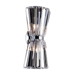 Crystal Sconce Chrome Armanno by Allegri Crystal