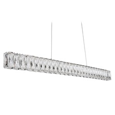 Crystal Chrome LED Pendant with Clear Shade 4000K 1100LM