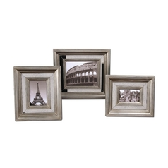 Decorative Mirrored Photo Frames - Set of Three