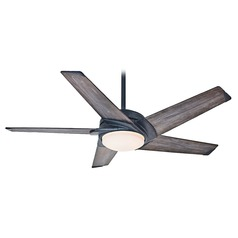 Casablanca 59093 Stealth Aged Steel LED Ceiling Fan with Light