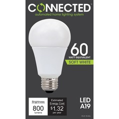 TCP Connected LED 2700K A-Lamp Light Bulb - 60W Equivalent