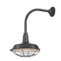 Black Gooseneck Barn Light with 12