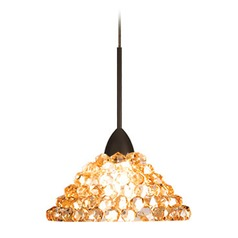 WAC Lighting Giselle Dark Bronze LED Mini-Pendant Light with Coolie Shade