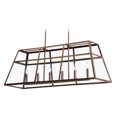 Quorum Lighting Kaufmann Oiled Bronze Island Light