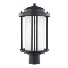 Sea Gull Crowell Black LED Post Light